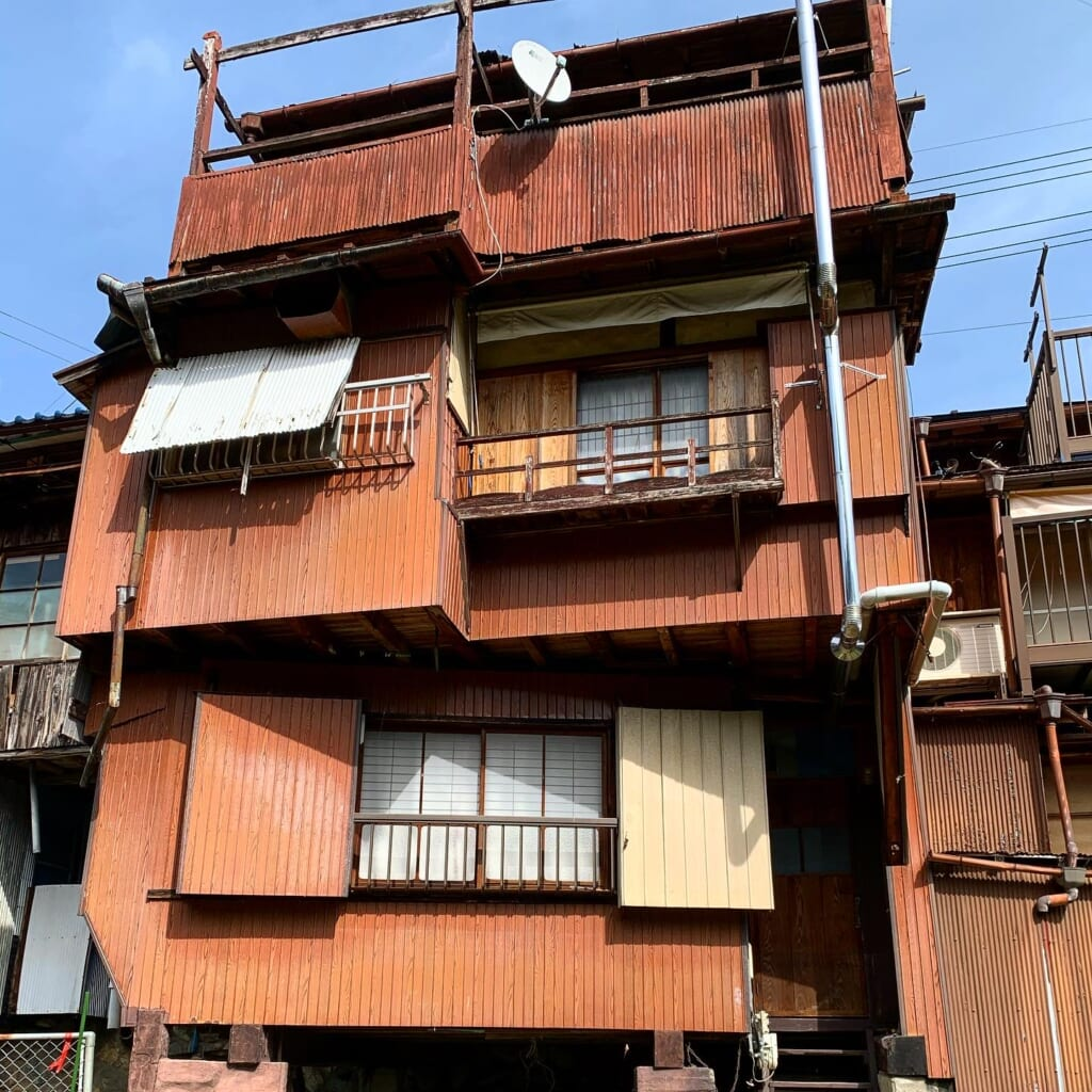 Japanese house with layered stories
