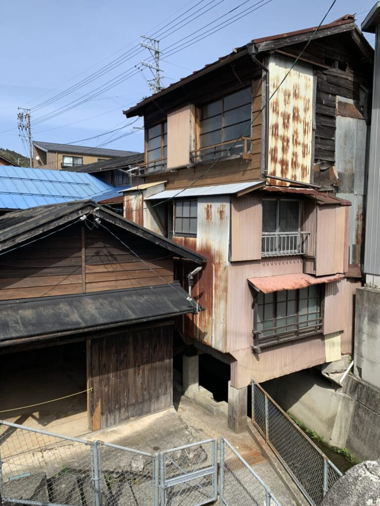 old overlapping houses