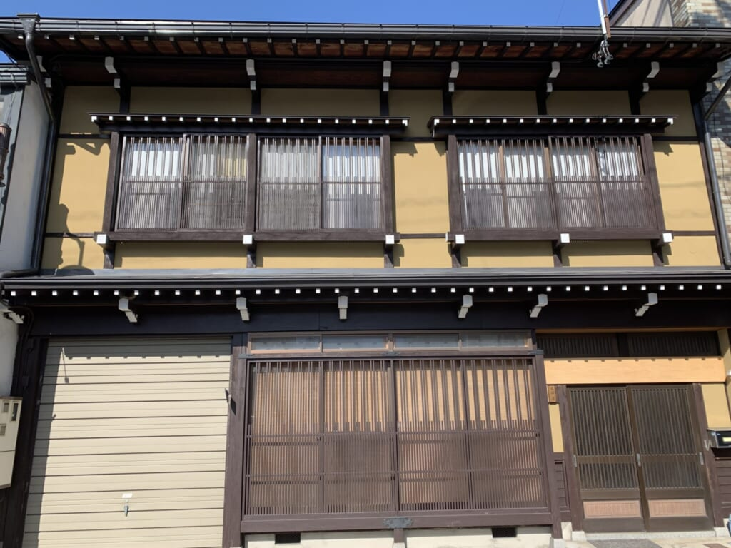 wooden lattices on a Japanese house