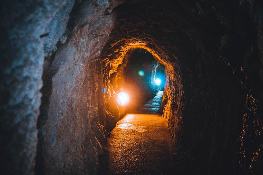inside Japanese silver mine in Japan