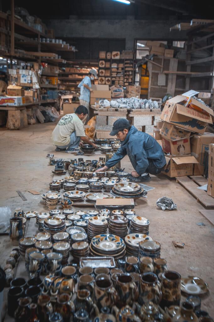 people working in matsuda workshop in Okinawa
