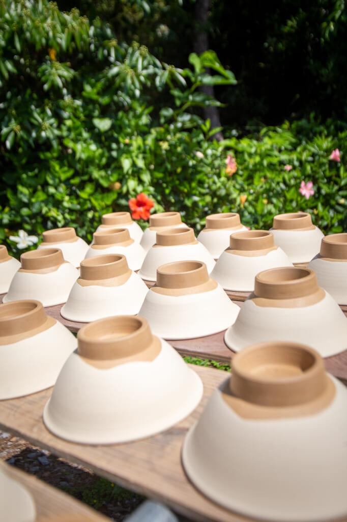 many ceramic bowls in okinawa