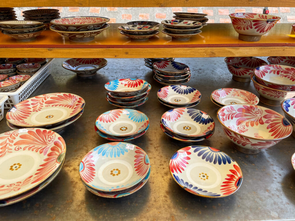 colorful Japanese dishes in okinawa