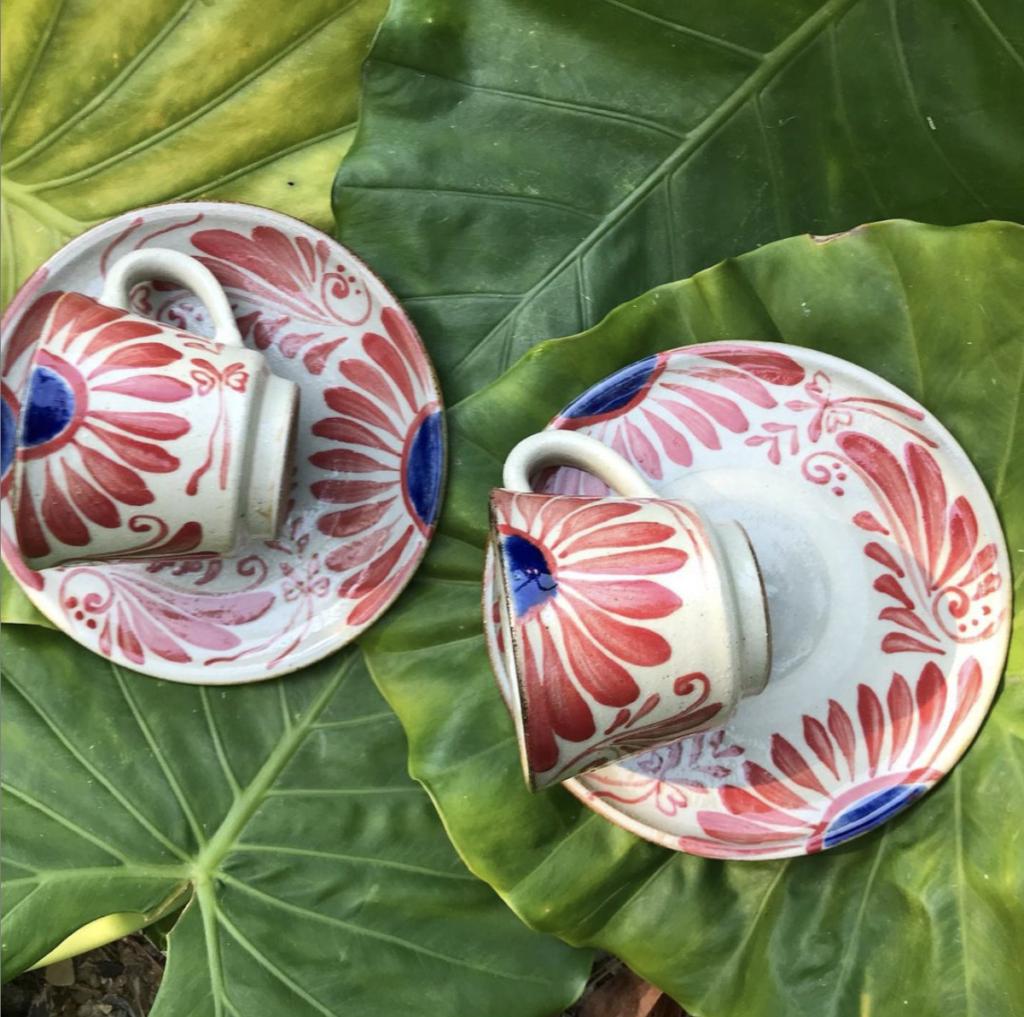 two okinawa ceramic mugs