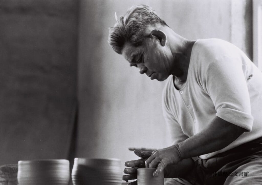 old picture of Jiro Kinjo a Japanese pottery master in Okinawa