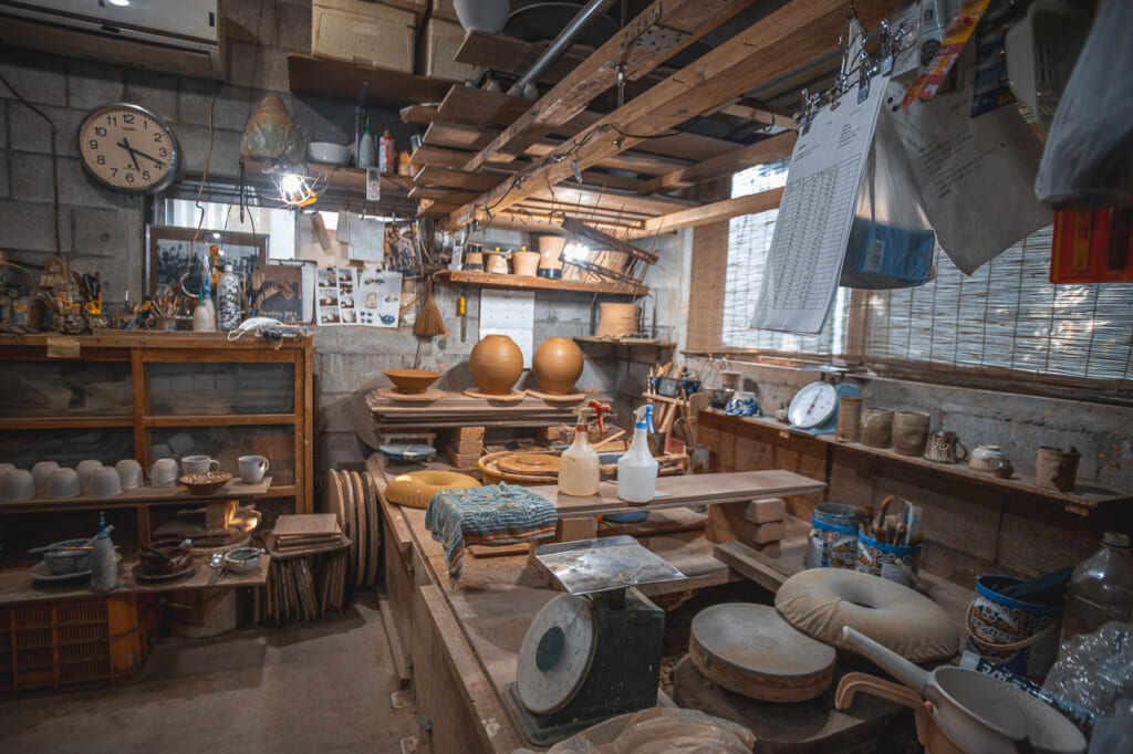 general view of Nakama Pottery Workshop in Okinawa, Japan