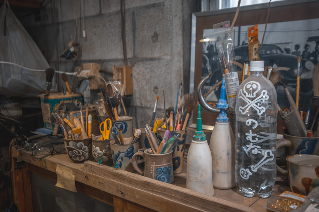 Pottery tools  in Okinawa, Japan