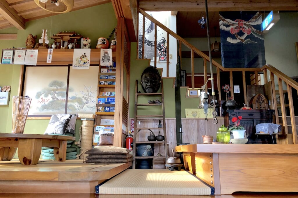 interior of traditional Japanese guest house