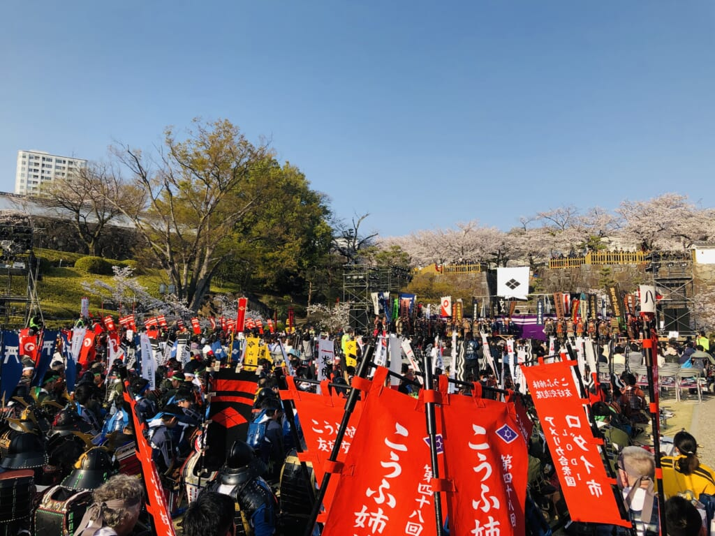 Shingen-ko festival is the world's largest samurai festival in Japan