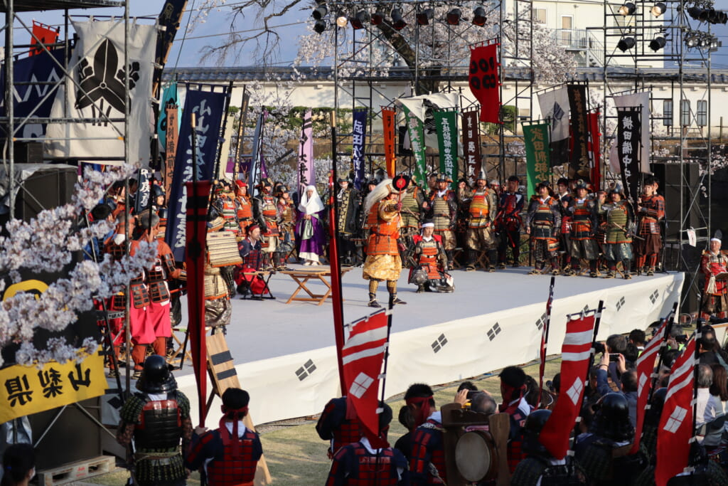 Show of a battle with Takeda Shingen