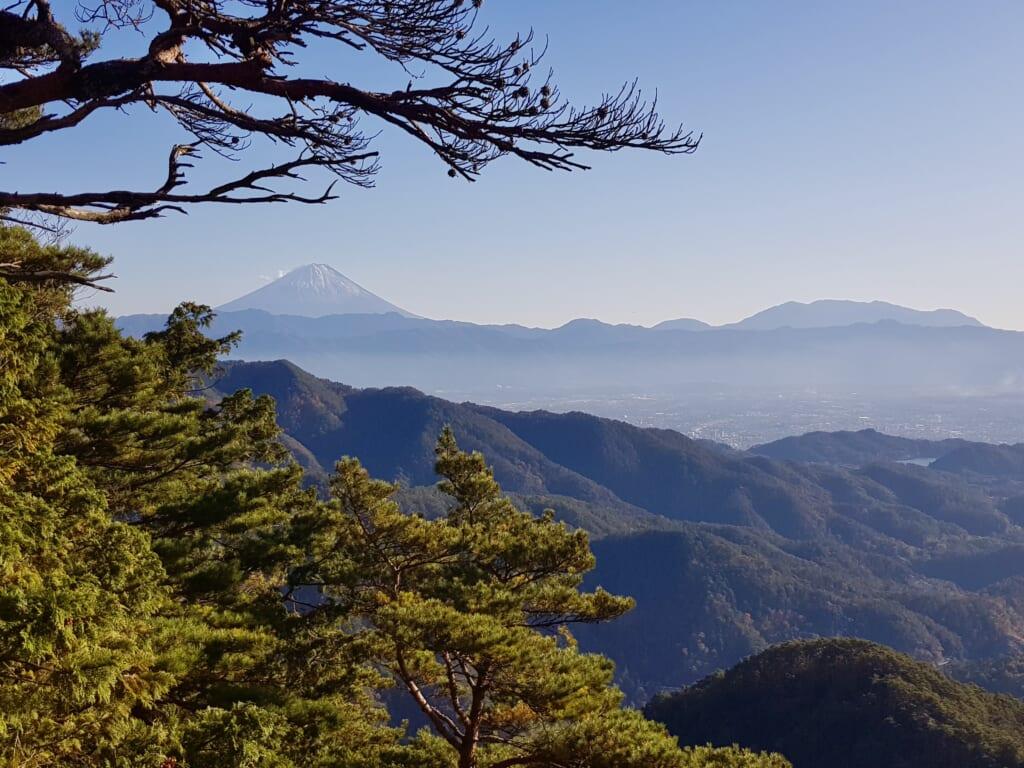 Mount Fuji view from Yasaburo-dake in Japan