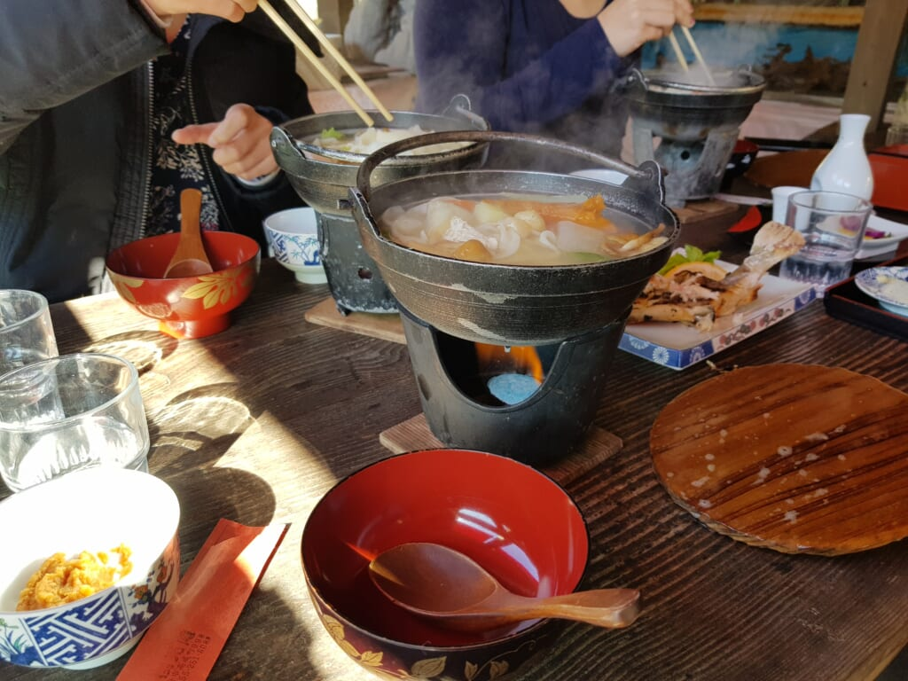 traditional Japanese food a tasty place to share in Kofu