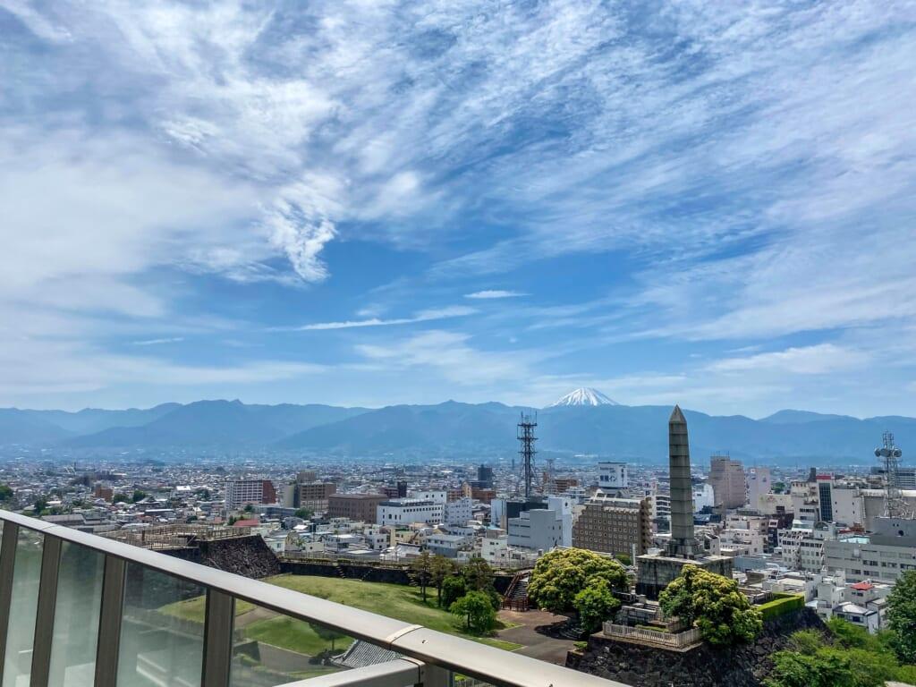 Fuji view from Shiro no Hotel in Kofu