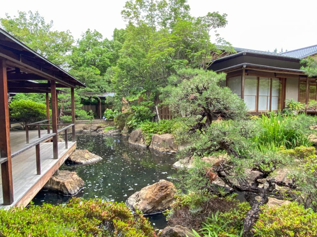 Yumura onsen and its nature in Japan