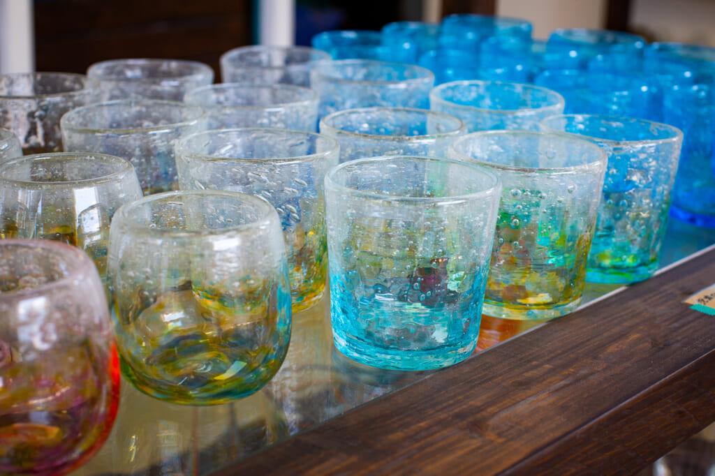 colorful okinawan glasses