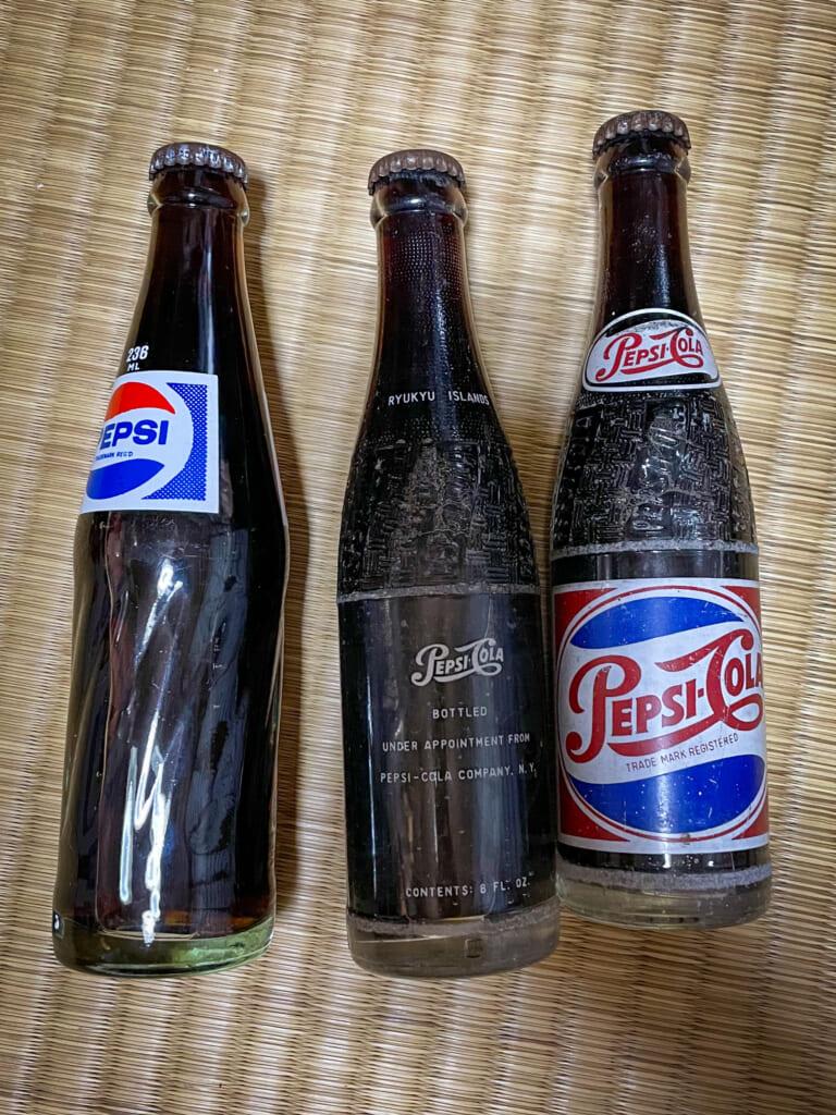 antique cola bottles in Japan