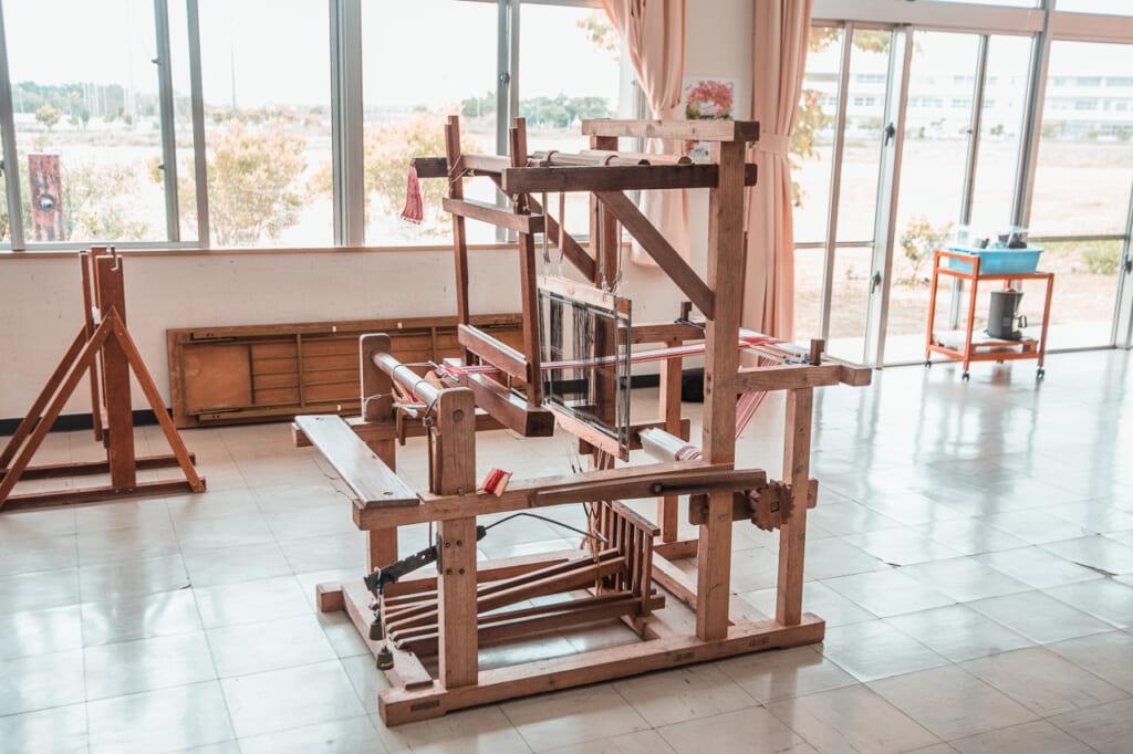 wooden handloom in japan