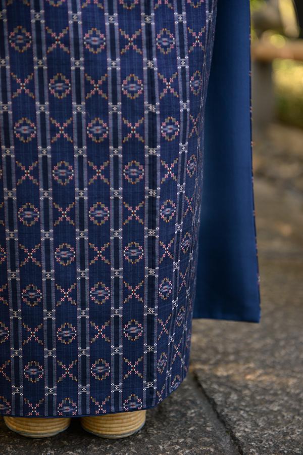 traditional okinawan Japanese kimono fabric