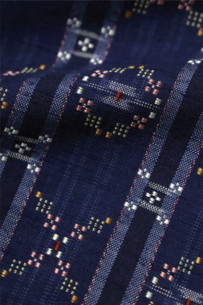 detail of hanaori, a type of japanese textiles from okinawa