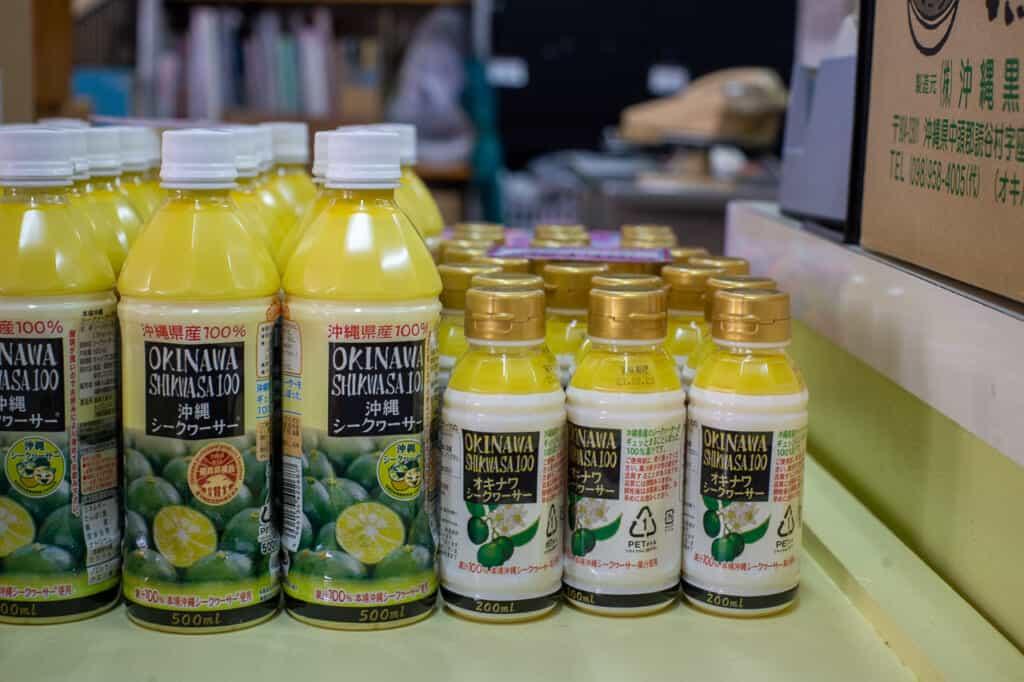 shikwasa juice bottles