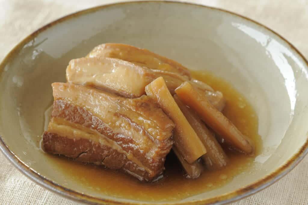 rafute, okinawan pork food in Japan