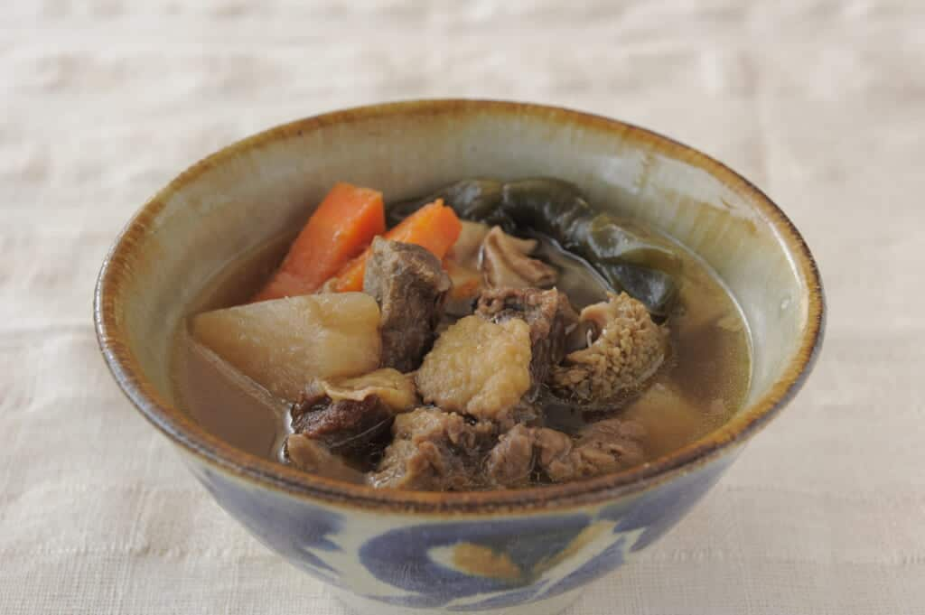Gyuujiru, okinawan food in Japan