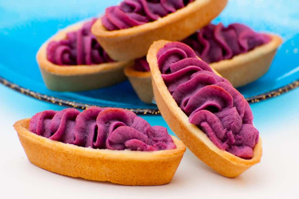 five benimo tarts in Japan
