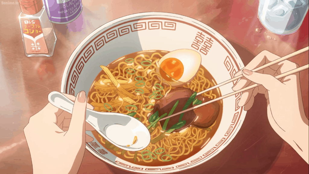 Scene from Your Name with Ramen