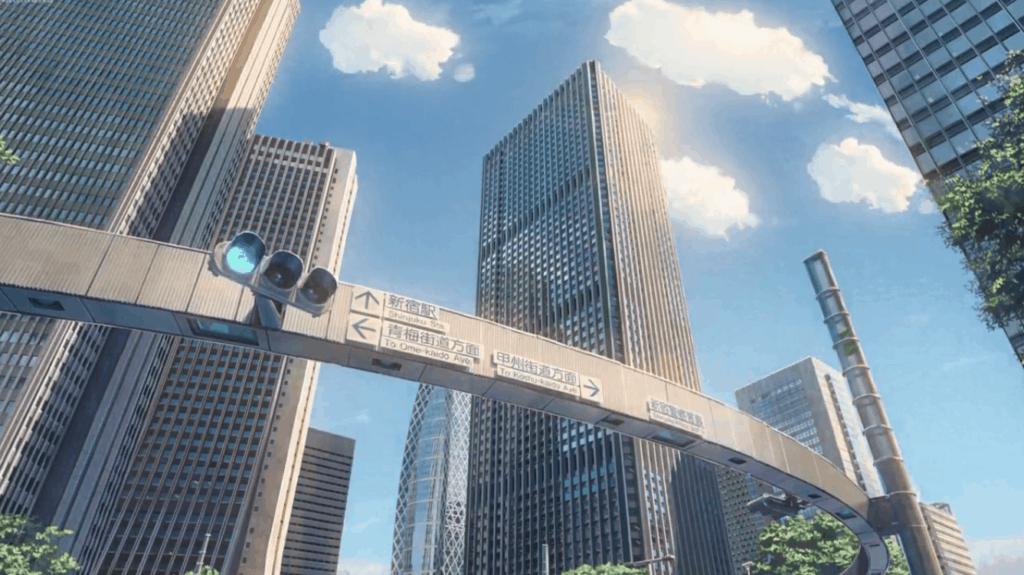 Your Name scene at Kita-dori intersection