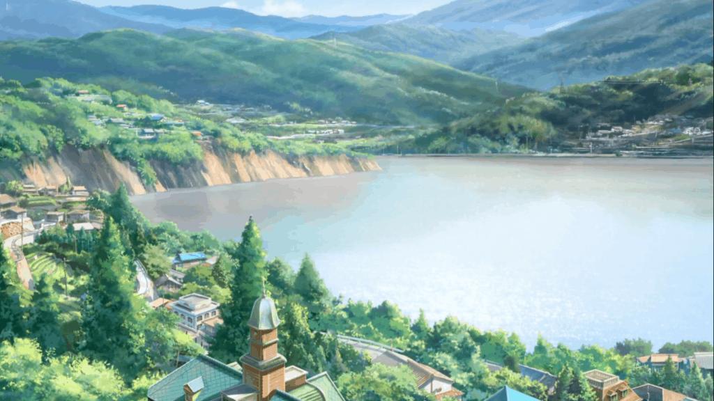 Scene from Your Name in Itomori