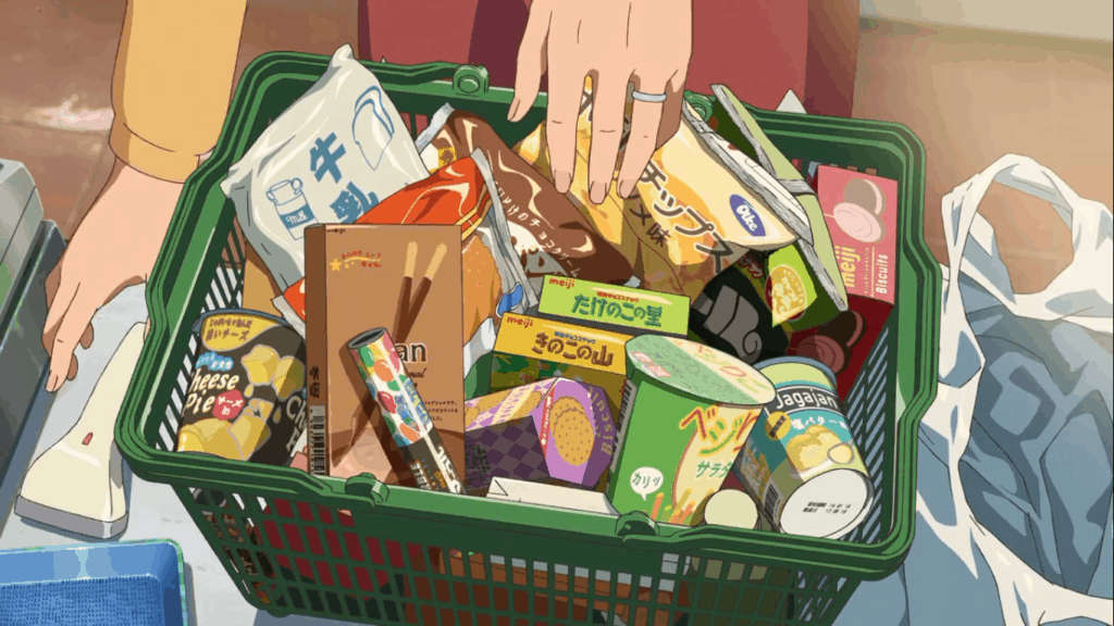 Your Name scene with candy