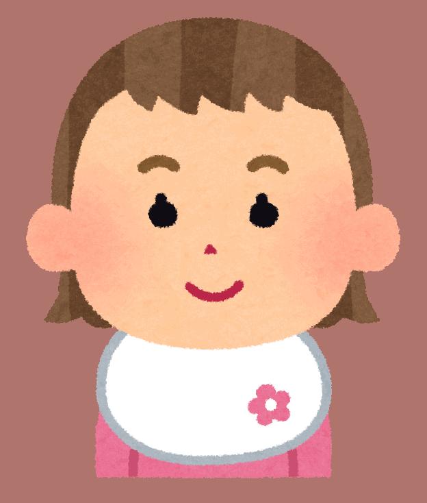 Baby girl illustration