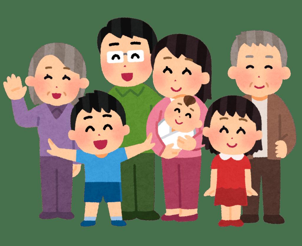 multi-generational family members