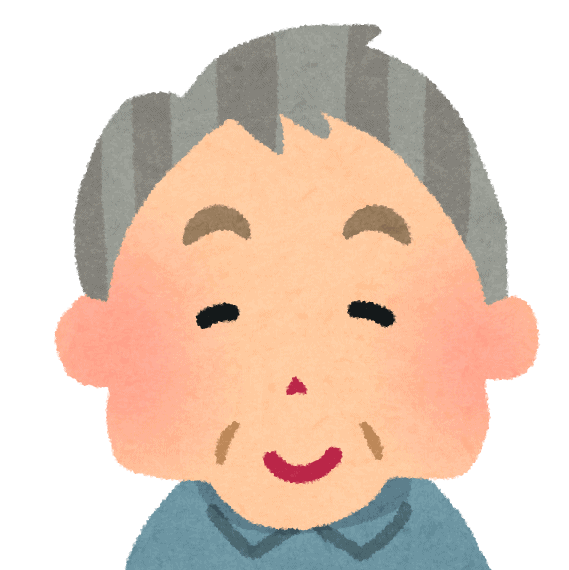 Elderly man illustration