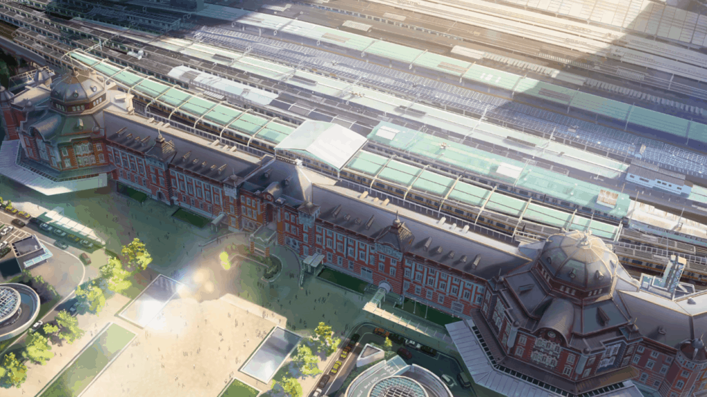 Your Name scene of Tokyo Station