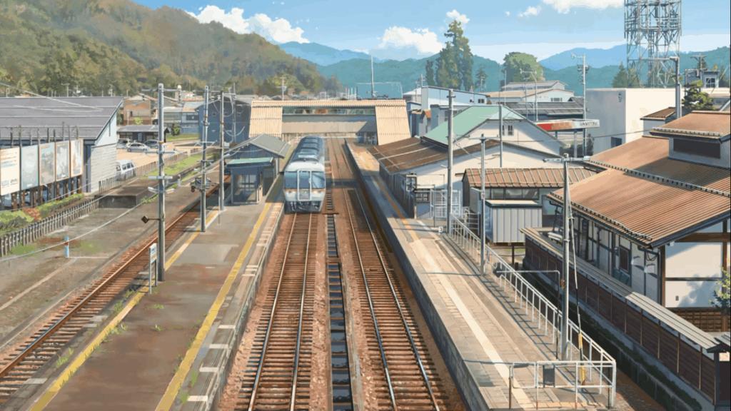 Scene from Your Name in Hida Furukawa train station