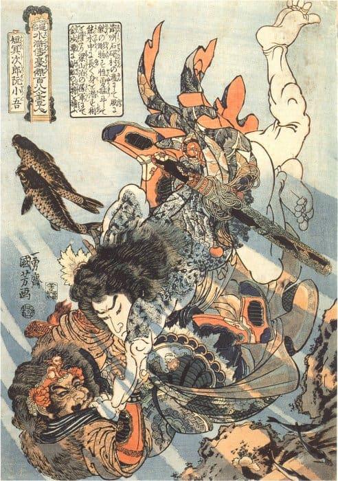 kuniyoshi woodblock print in Japan
