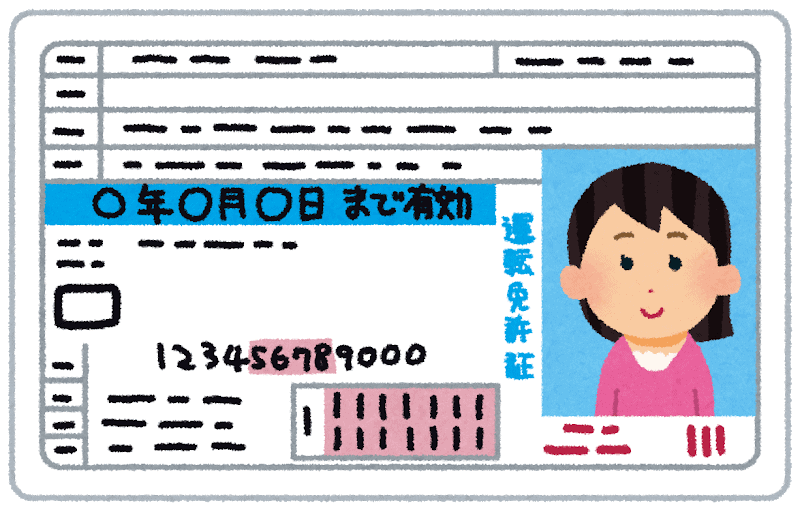 Japanese woman's driver's license