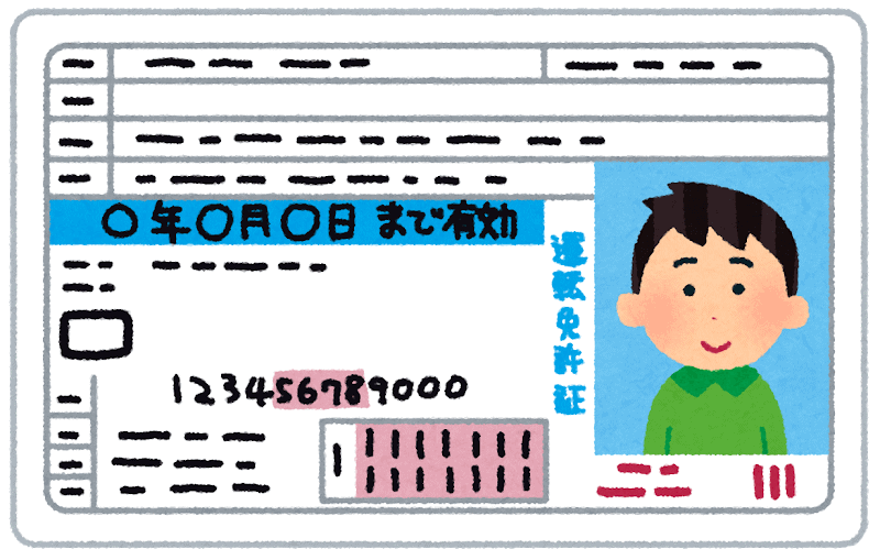 Japanese man's driver's license
