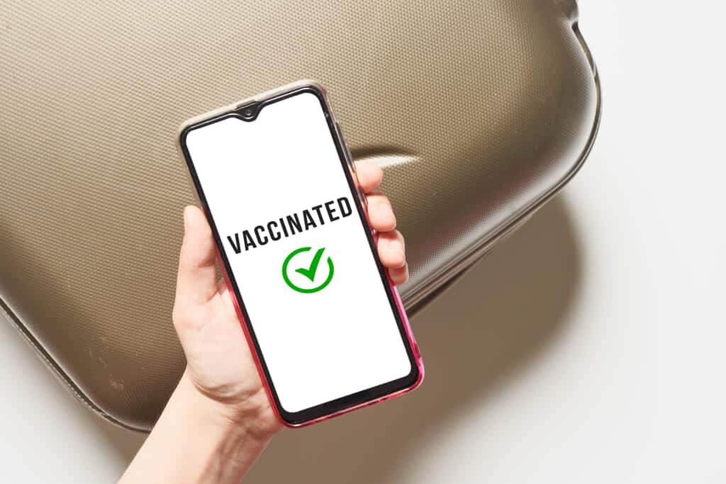 Confirmation of vaccination on cell phone in Japan