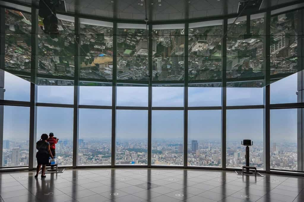 Roppongi Hills City View observation deck in Japan