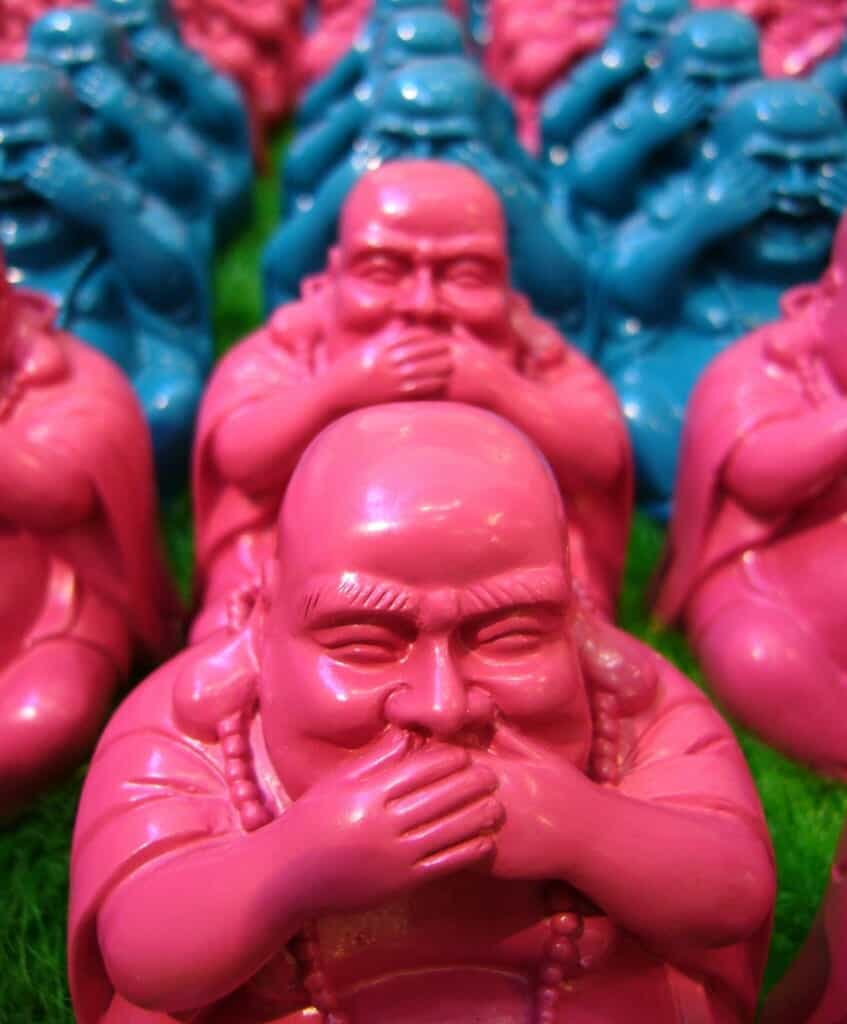 Some figures of Hotei, the fat buddha