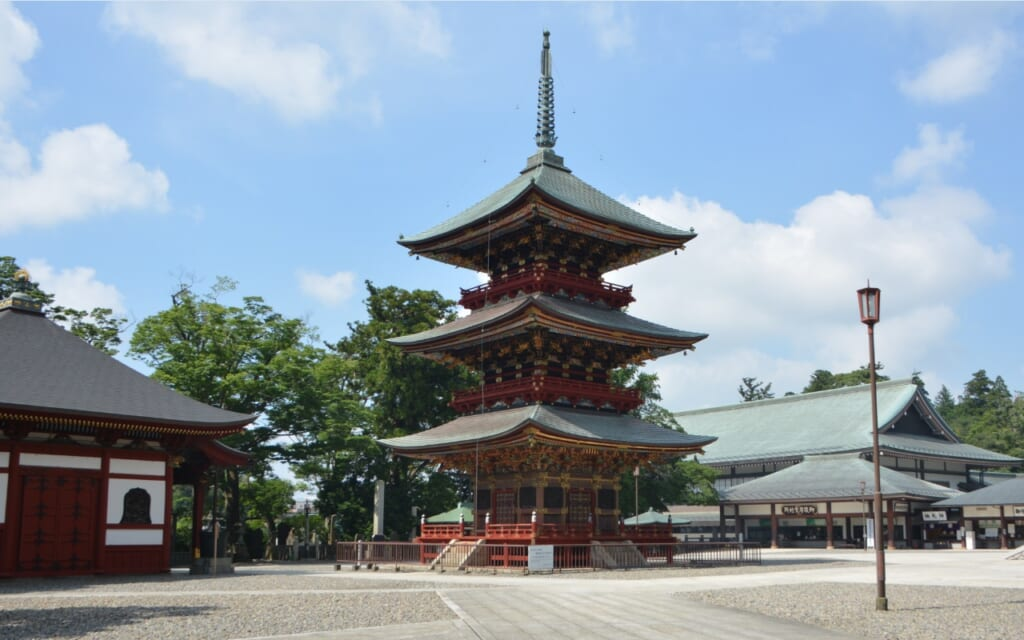 Traditional temple complex in Narita, Japan