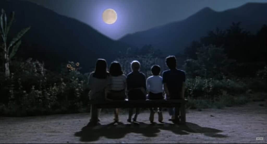 Japanese movie of life after the atomic bomb, Rhapsody in August, enjoying the moon