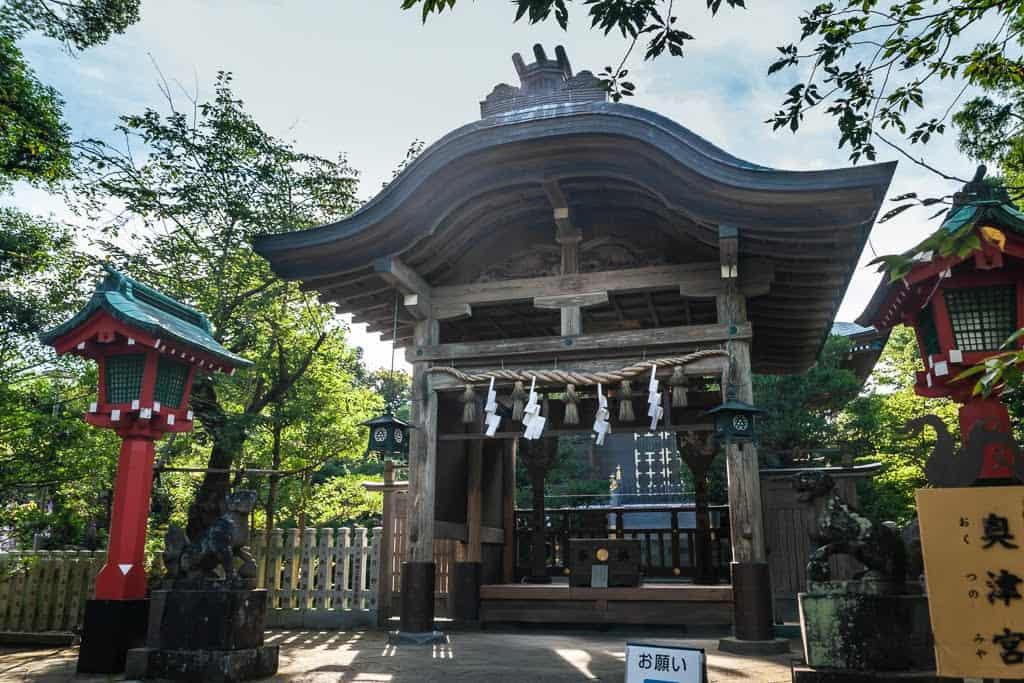 small square shrine in Japan