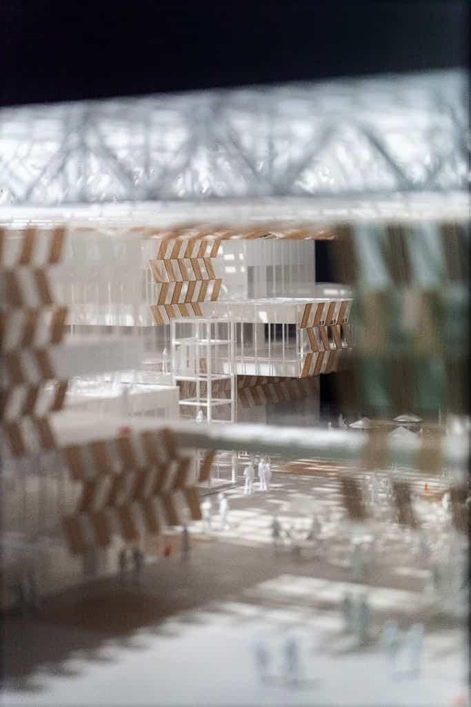 Kengo Kuma's design of Nakaoka City Hall at the Japan Culture Expo