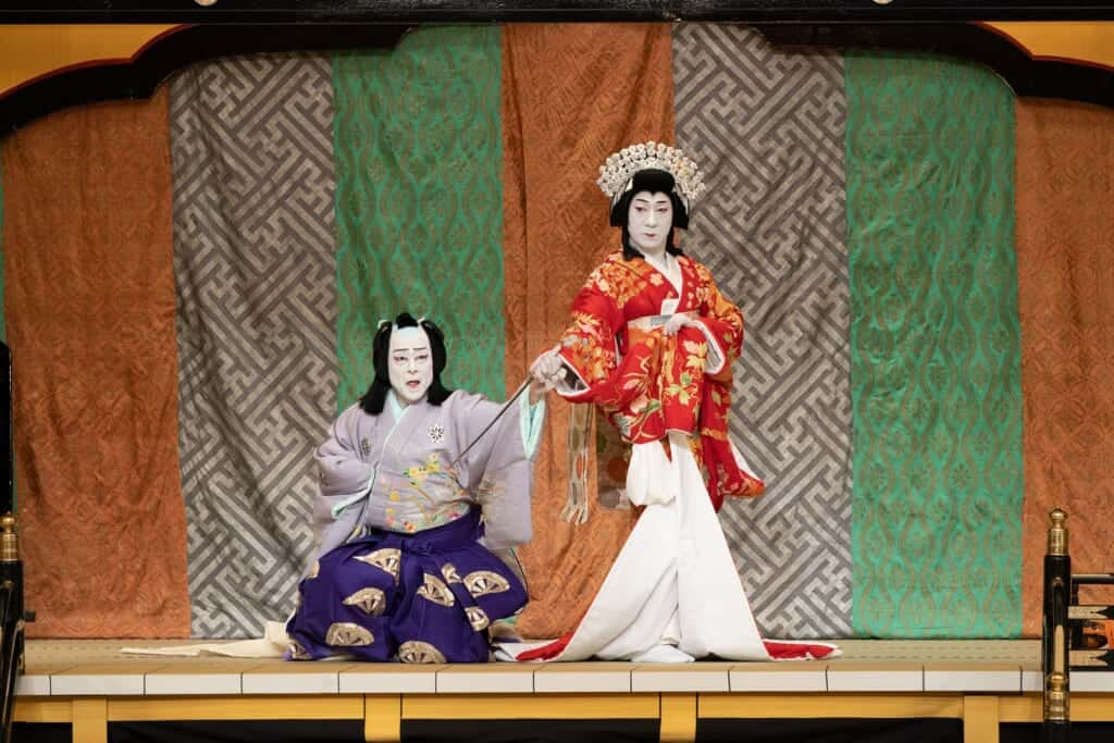 Yoshitsune Senbon Zakura Kabuki play at the National Theatre of Japan