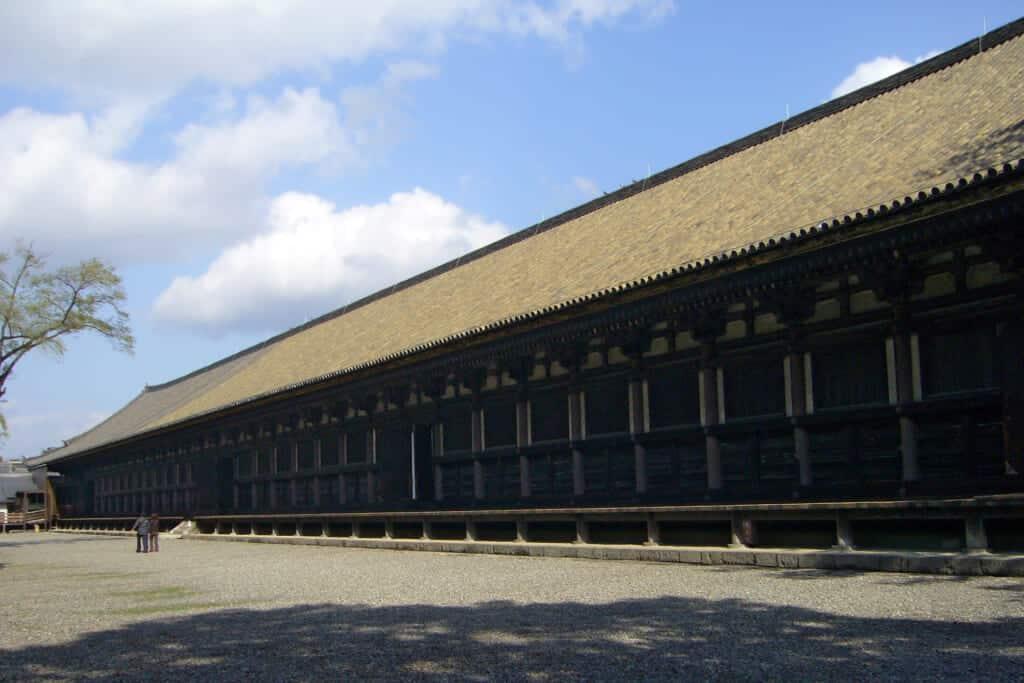 Outside of Sanjusangendo in Kyoto
