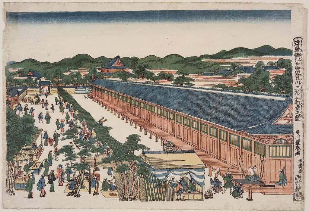Ukyo-e print representing Toshiya Matsuri