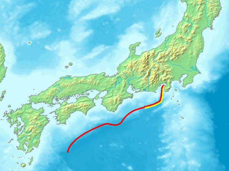 The Nankai Trough in Japan